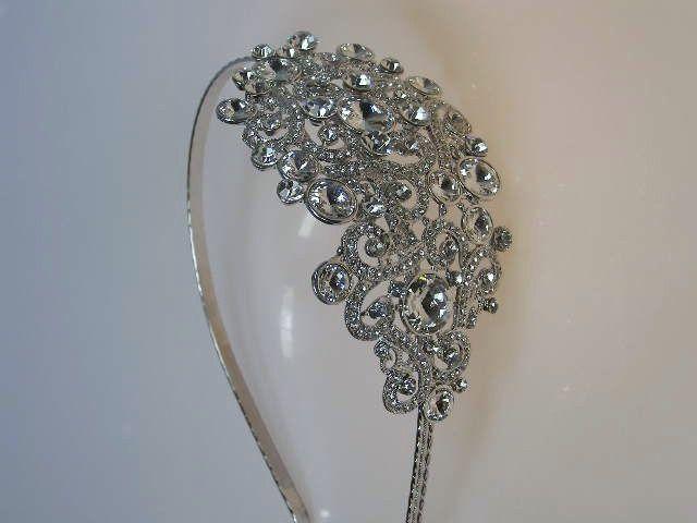 Vintage style swarovski crystal side tiara