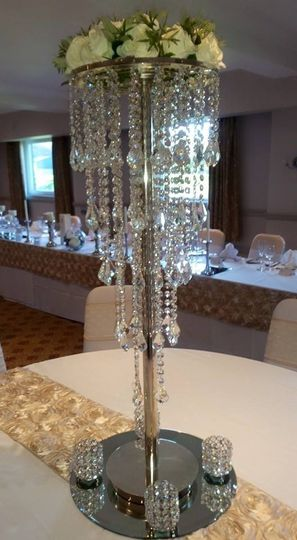 Glass cut crystal chandelier