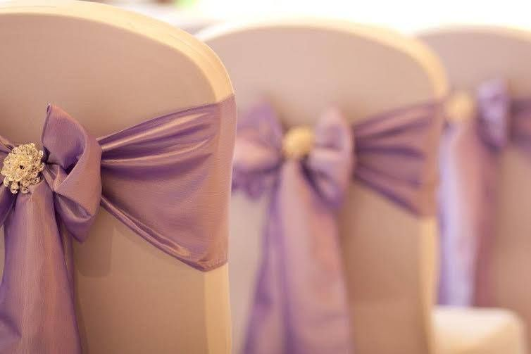 Lilac Taffeta and brooch