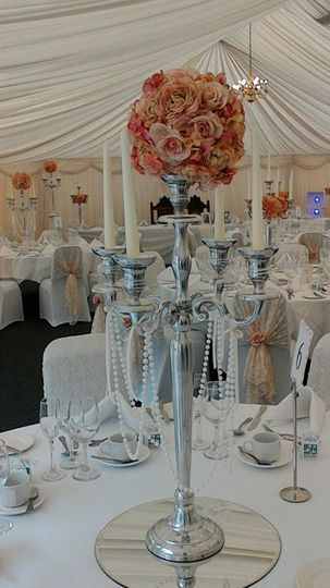 Rose Ball Candelabra