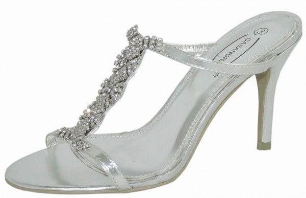 Silver Evening Sandals