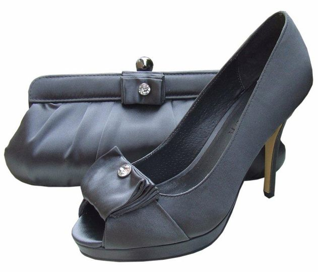 Menbur Pewter Evening Shoes