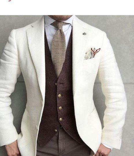 White italian lightweight tweed jacket