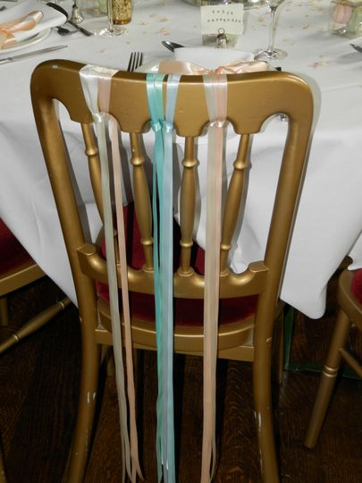 Ribbon decoration on chairs