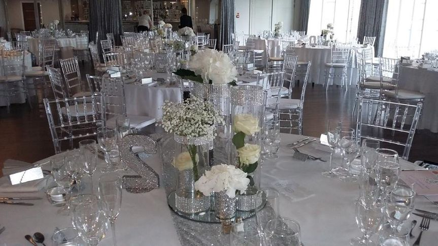 Sequin Runners and Vase Hire