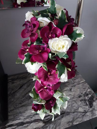 Silk Cascading Bouquet