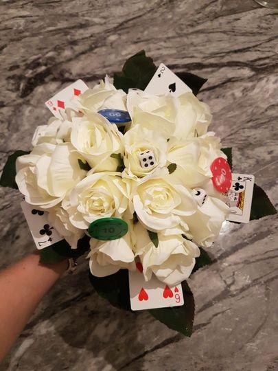Vegas Themed Bouquet