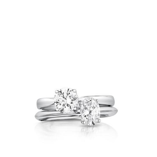 Round diamond Bands