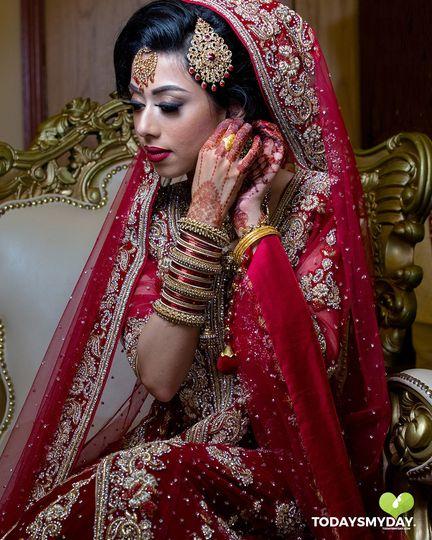 Asian bridal wedding photograp