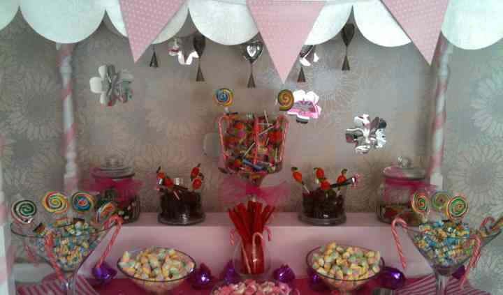 Close up of sweetie buffet