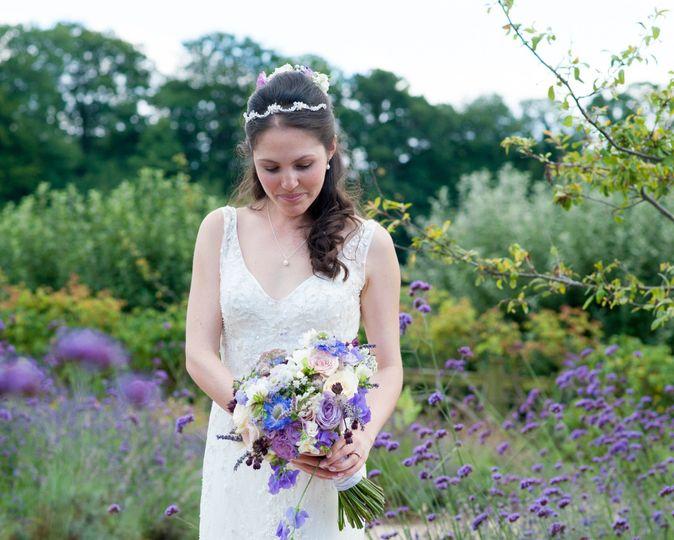 Beautiful outdoor bride