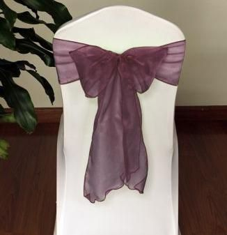 Burgundy sashes
