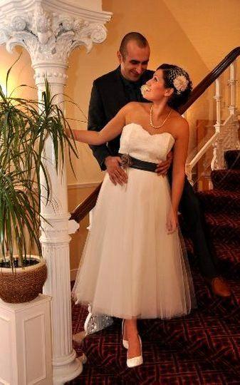 50's style wedding dress
