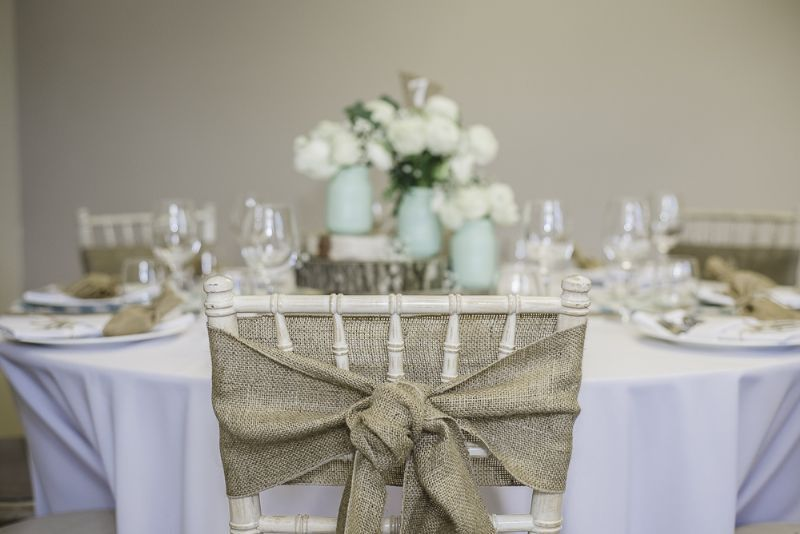 Hessian chair styling