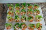 Salad -prawn cups