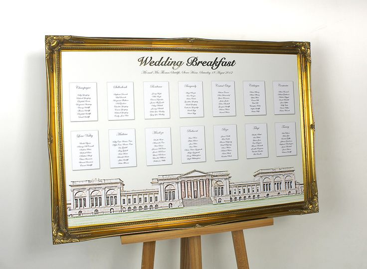 Venue sketch table plan from Wedding Table Plans | Photo 9