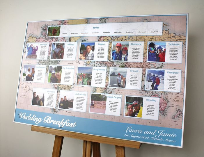 Travel Themed Wedding From Wedding Table Plans Photo 35