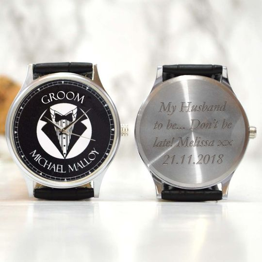 Personalised watch for groom