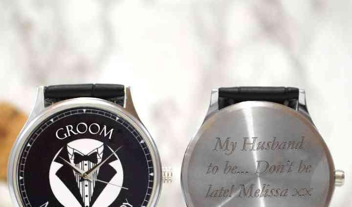 Personalised watch for groom