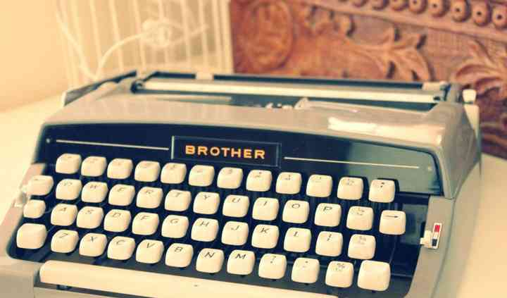 Retro Brother Typewriter  Hire
