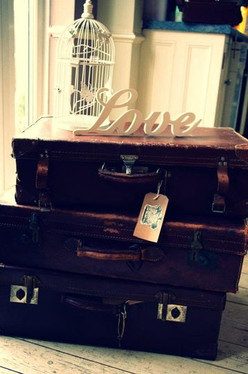 Vintage suitcases, great props