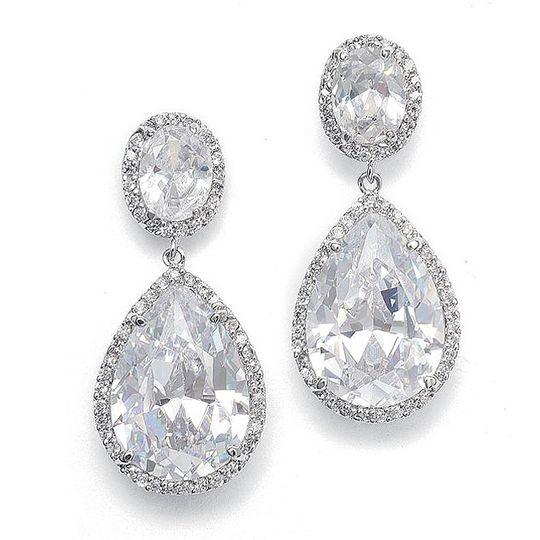 Diamante Wedding Earrings
