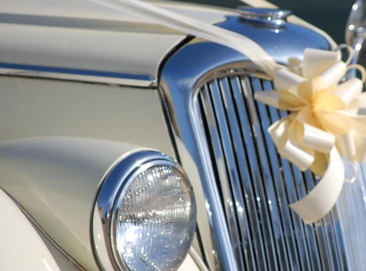 Wedding car bows