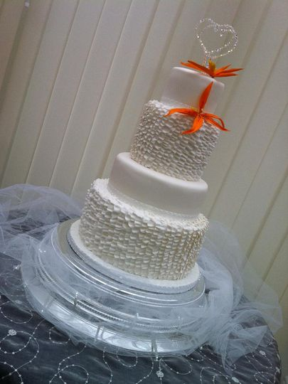 A beautiful ruffles cake