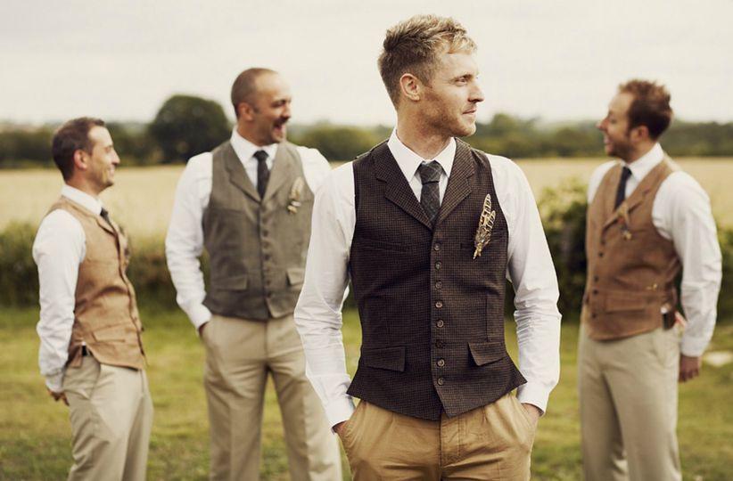 Tweed waistcoats and ties