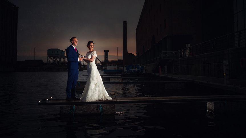 Bride & groom Titanic Hotel