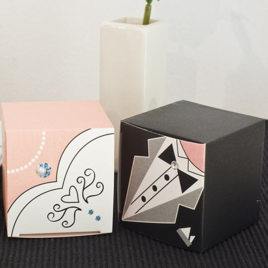 Cube Shaped Favour Boxes