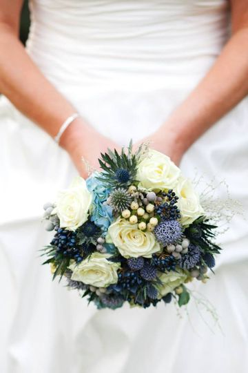Mixed blue bouquet