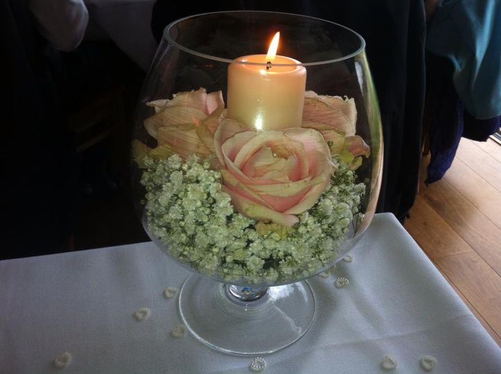 Brandy glass table centres