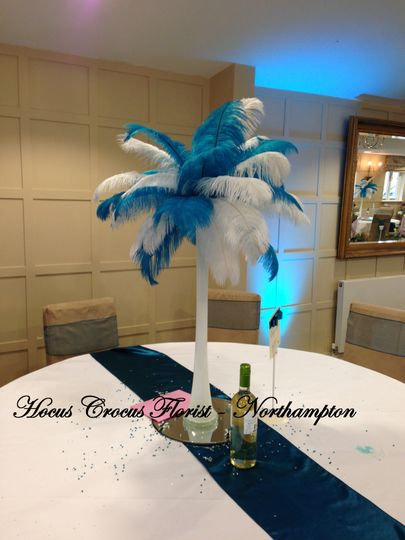 Ostrich feather vases