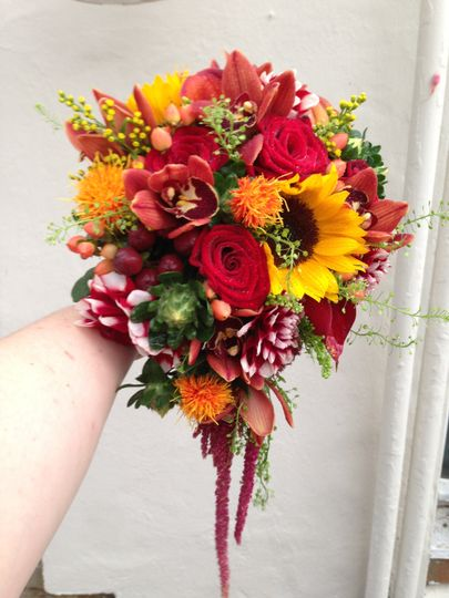Mixed autumnal bouquet