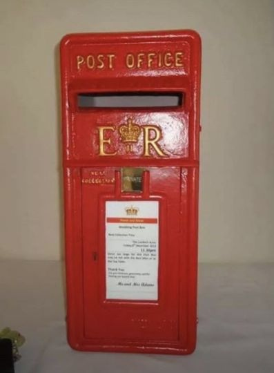 Royal Mail postbox red