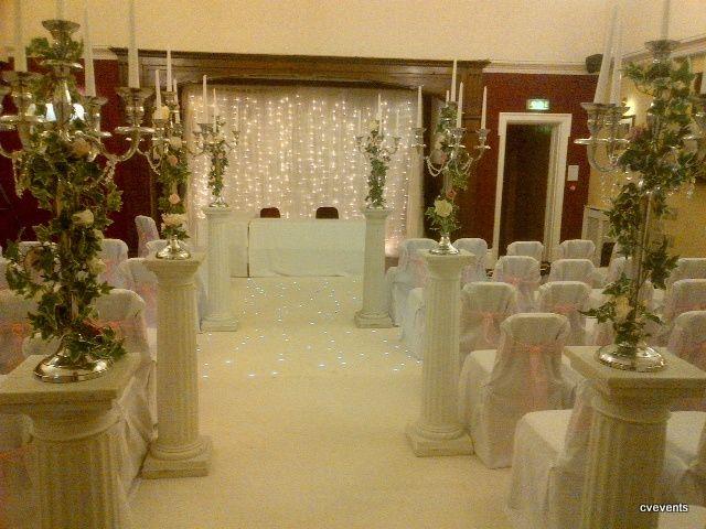 Ceremony room dressed