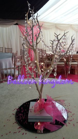 Manzanita tree ccenterpiece