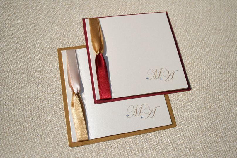 Coloured ribbon invite