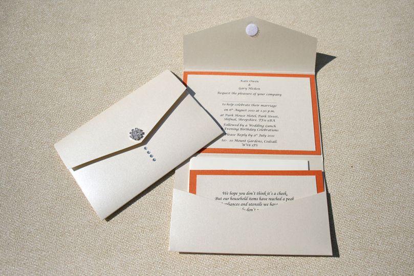 Diamante invitation
