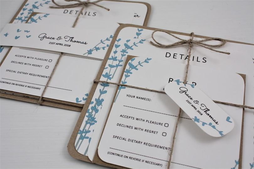 Floral Stems Stack Invitation