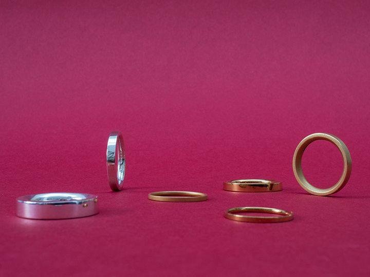 Gold & platinum wedding rings