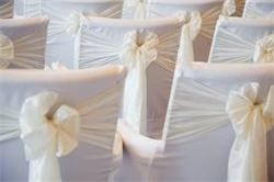 Chair covers and sashes cream