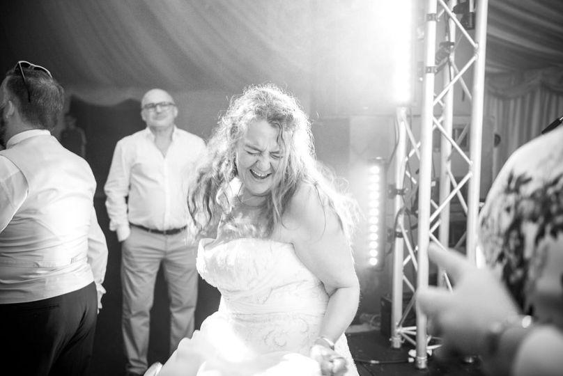 Dancing at festival wedding