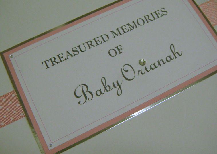 Tag for Baby Keepsake Box