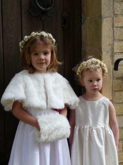 Silk Dress & Rose Head Garland