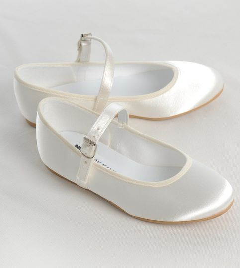 Flat Bar Satin Bridesmaid Shoe