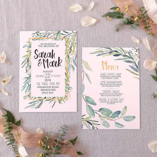 Botanical Luxe Invitation