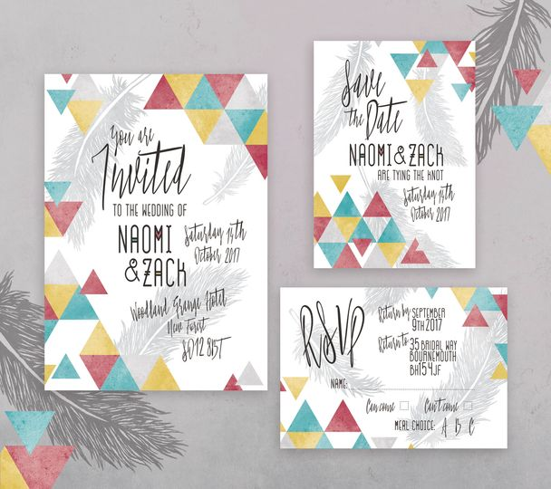 Boho Geometric Stationery Set