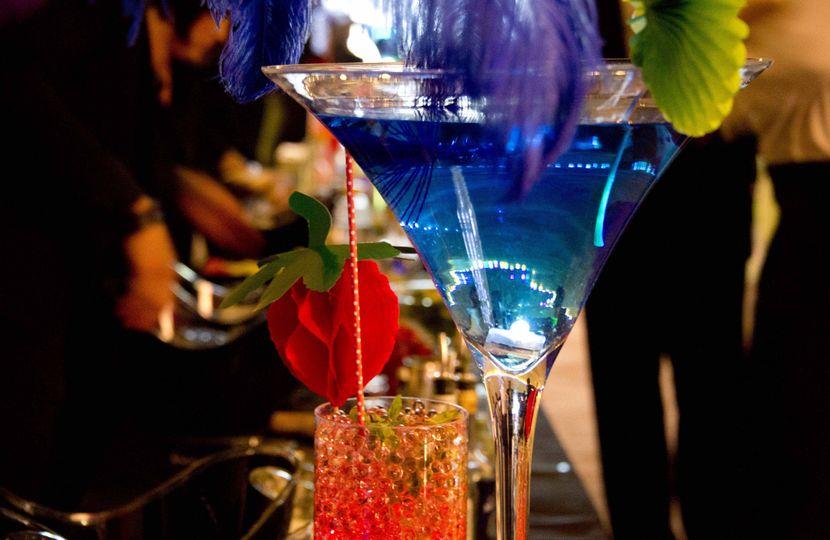 Illuminated Giant Cocktails